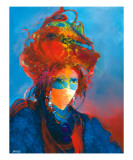 Masque Blue au Turban Giclee Print by Max Laigneau