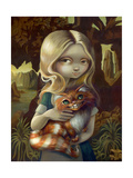 Alice in a Da Vinci Portrait Print by Jasmine Becket-Griffith