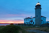 Beavertail Lighthouse Sunset, Rhode Island Photographic Print by George Oze