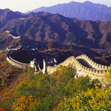 Great Wall Of China Autumn Photographic Print by Charles Bowman