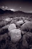Eastern Sierra Sundown California BW Photographic Print by Steve Gadomski