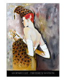 Leopard Hat with title Giclee Print by Frederick Watson