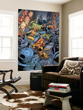 Avengers: The Initiative No.26 Group: Tigra, Ultragirl, Gauntlet and Justice Jumping Wall Mural by Rafa Sandoval