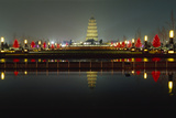 Wild Goose Pagoda at Night Photographic Print by George Oze