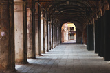 Covered Walkway, Rialto, Venice, Italy Photographic Print by George Oze