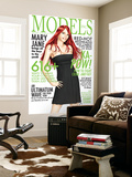 Models, Inc. No.3 Cover: Watson and Mary Jane Wall Mural by Scott Clark