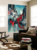 Timestorm 2009/2099: Spider-Man One-Shot No.1 Cover: Spider-Man Fighting Wall Mural by Paul Renaud