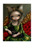 Princess with a Black Cat Photographic Print by Jasmine Becket-Griffith