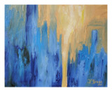 Manhattan Abstract Giclee Print by Janel Bragg