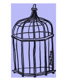 Birdcage in Purple Giclee Print by Janel Bragg
