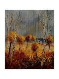 Autumn Landscape 5697412 Giclee Print by  Ledent