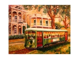 Garden District Streetcar Giclee Print by Diane Millsap