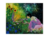 Eglantine In The Garden Giclee Print by  Ledent