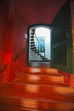 Red Doorway, Los Morillos Lighthouse, Puerto Rico Photographic Print by George Oze