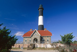 Entrance View, Fire Island Lighthouse Photographic Print by George Oze