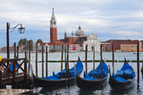 Gondola Station on Grand Canal Photographic Print by George Oze