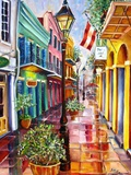 New Orleans Exchange Alley Reproduction procédé giclée par Diane Millsap