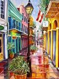 New Orleans Exchange Alley Reproduction procédé giclée par Diane Millsap
