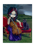Cello Storm Photographic Print by Jasmine Becket-Griffith