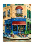French Flower Shop Giclee Print by Marilyn Dunlap