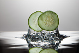 Cucumber FreshSplash Photographic Print by Steve Gadomski