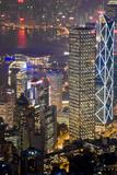 Hong Kong Night Fotografisk tryk af Charles Bowman