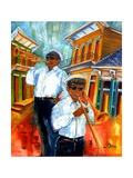 Jazz in Treme Reproduction proc&#233;d&#233; gicl&#233;e par Diane Millsap