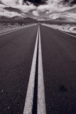 Desert Road Trip BW Photographic Print by Steve Gadomski