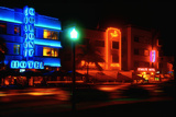 Neon Glow, Ocean Boulevard , Miami Beach Photographic Print by George Oze