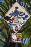 Surfer Crossing Sign, Rincon, PR Photographie par George Oze