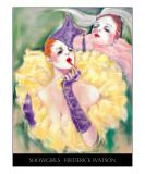 Showgirls with title Giclee Print by Frederick Watson