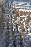 Vanguard Line of Terracotta Warriors, China Photographic Print by George Oze