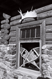 Alpine Lodge Window, Alberta, Canada Photographic Print by George Oze