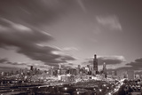 Chicago At Dusk BW Photographic Print by Steve Gadomski