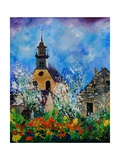 Spring In Foy Notre Dame Giclee Print by  Ledent