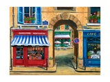 French Butcher Shop Montmartre Reproduction procédé giclée par Marilyn Dunlap