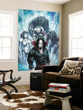 Marvel Zombies 3 No.4 Group: Morbius, Man-Thing, Werewolf By Night, Hellstrom and Daimon Wall Mural by Kev Walker