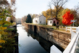 Canal Lock Fall Scene, Kingston, New Jersey Photographic Print by George Oze