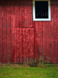 Red Barn Wall Photographic Print by Steve Gadomski