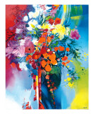 Bouquet en Mouvement Reproduction procédé giclée par Max Laigneau