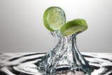 Lime Fresh Splash Photographic Print by Steve Gadomski