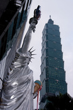 Taipei Statue Of Liberty Photographic Print by Charles Bowman