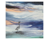 Heron in the Rough Giclee Print by Janel Bragg