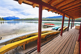 Boathouse, Maligne Lake, Canada Photographic Print by George Oze
