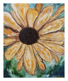 Yellow Daisy Giclee Print by Janel Bragg