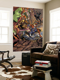 Savage She-Hulk No.2 Group: Iron Patriot, Wolverine, Spider-Man and Marvel Boy Wall Mural by Peter Vale
