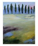 Skagit Poplars Giclee Print by Janel Bragg