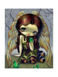 Angel with Emeralds Photographic Print by Jasmine Becket-Griffith