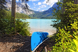 Boat on the Shore, Emerald Lake, Canada Photographic Print by George Oze