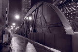 Steel Bridge Chicago BW Photographic Print by Steve Gadomski